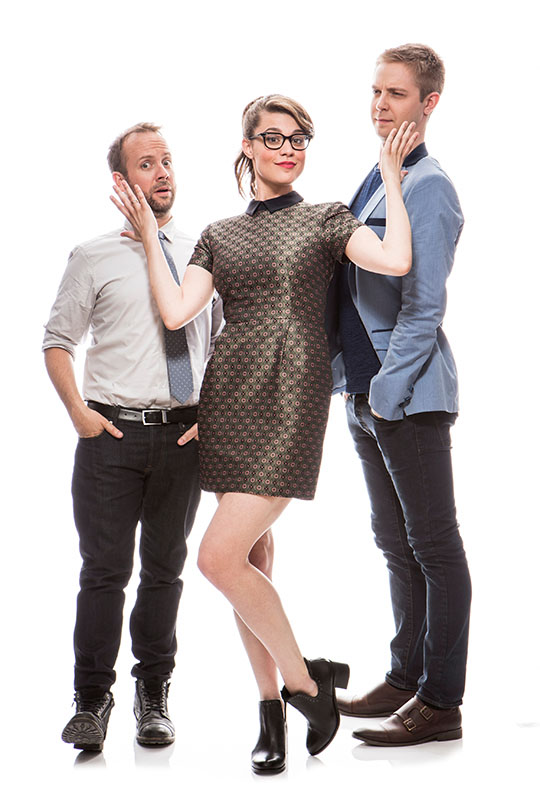 Teddy Wilson, Morgan Hoffman, and Ajay Fry in an InnerSpace promotional photo.